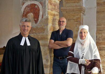 Pfarrer Tobias Schart, Bertram Kettner und Berta von Boll(Barbara Reik)
